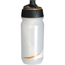 Tacx Shanti Twist Drinking Bottle 500ml, transparent/orange